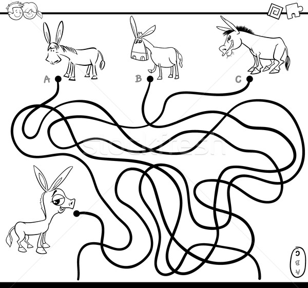 600x560 Maze Path Game Coloring Page Vector Illustration Igor Zakowski