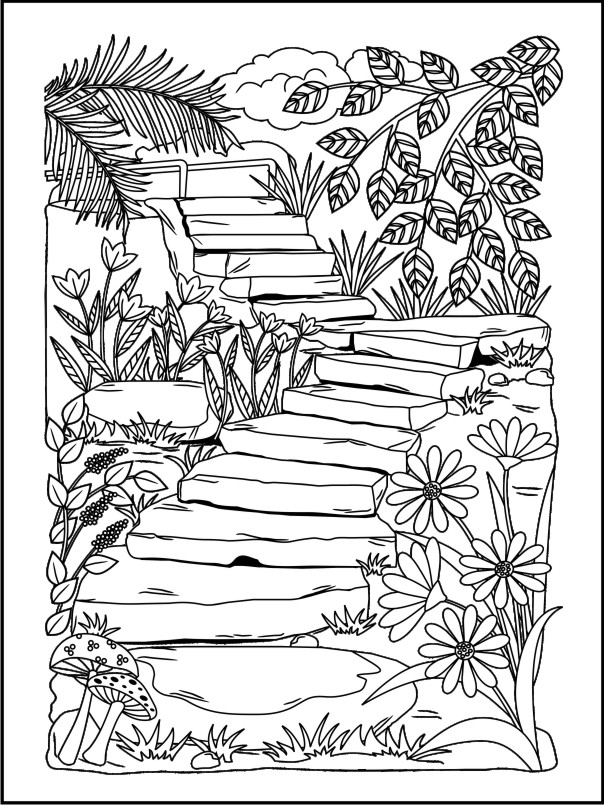 604x805 Twenty Coloring Pages For Grown Ups Coloring Books, Adult