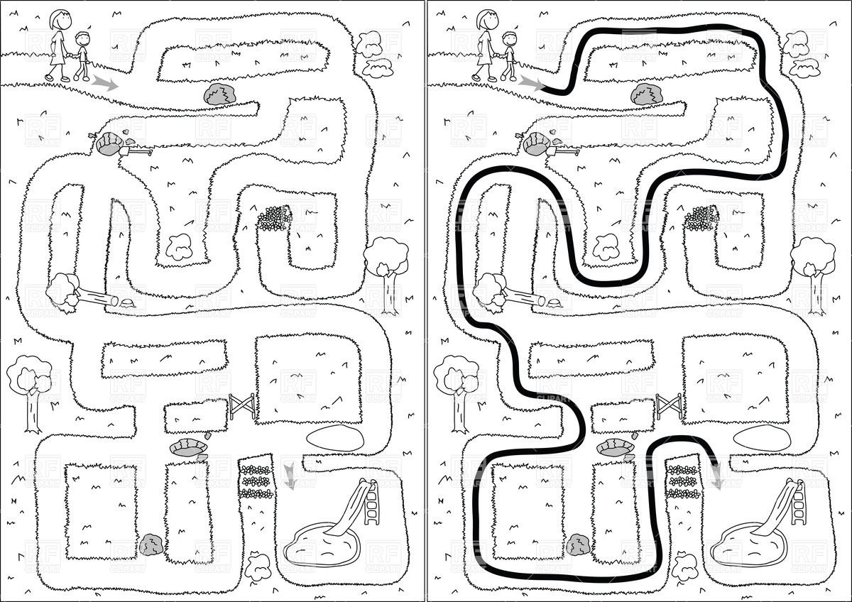 1200x848 Childish Park Maze
