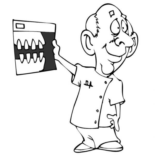 600x600 Dentist Show Patient Teeth Coloring Pages Bulk Color