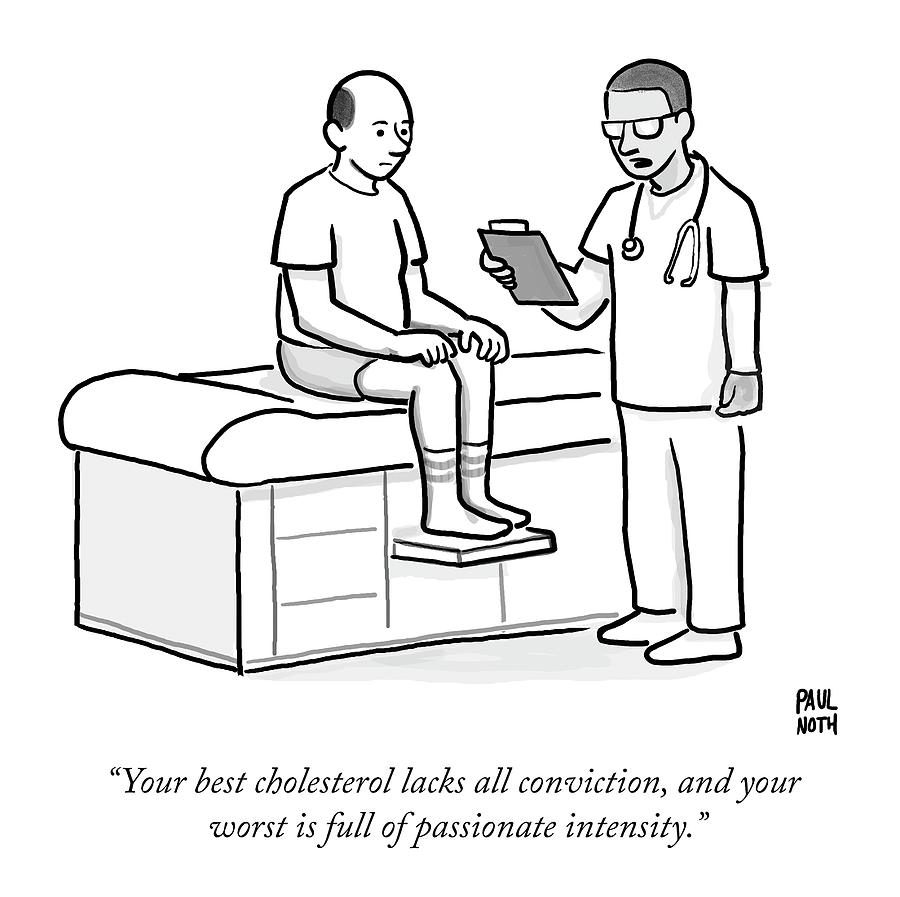 900x897 A Doctor Addresses A Patient In The Examination Drawing By Paul Noth