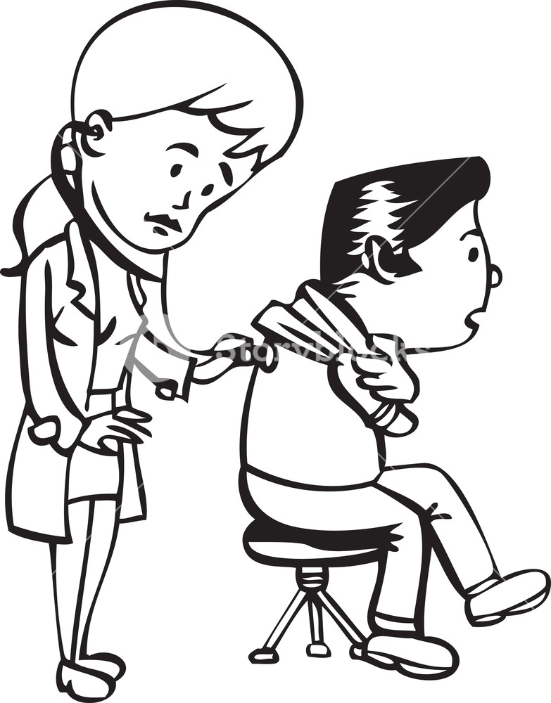 783x1000 Illustration Of A Lady Doctor With Patient. Royalty Free Stock