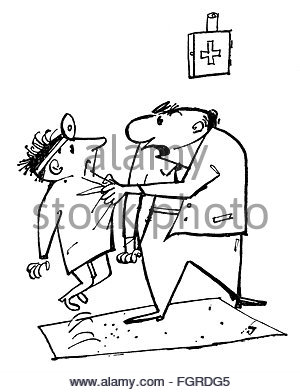 300x392 Medicine, Physicians, Caricature, Physician An Patient, Drawing By