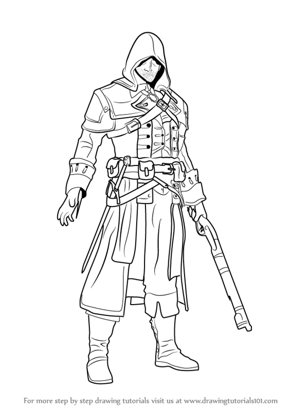 566x800 Learn How To Draw Shay Patrick Cormac From Assassin's Creed