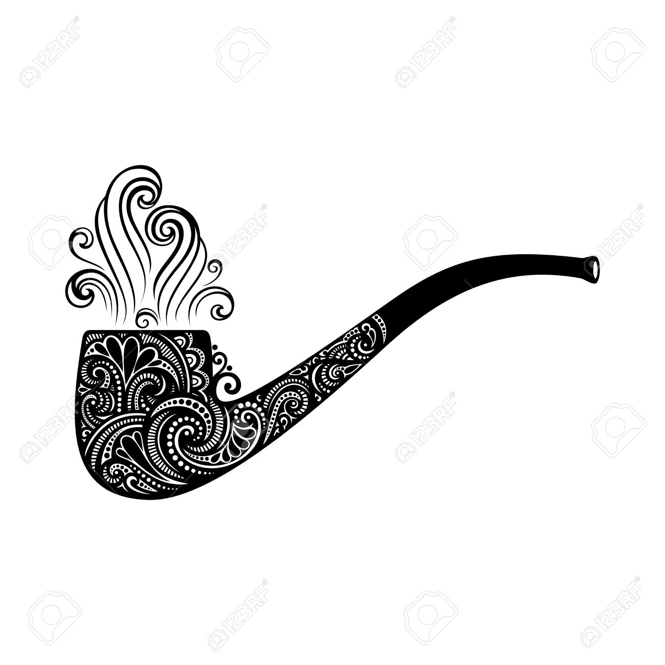 1300x1300 Vector St. Patrick's Day Symbol, Tobacco Pipe. Hand Drawing