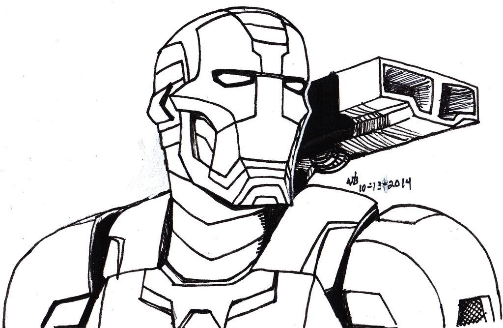 1024x667 Inktober Day 13 Iron Patriot By Constantscribbles