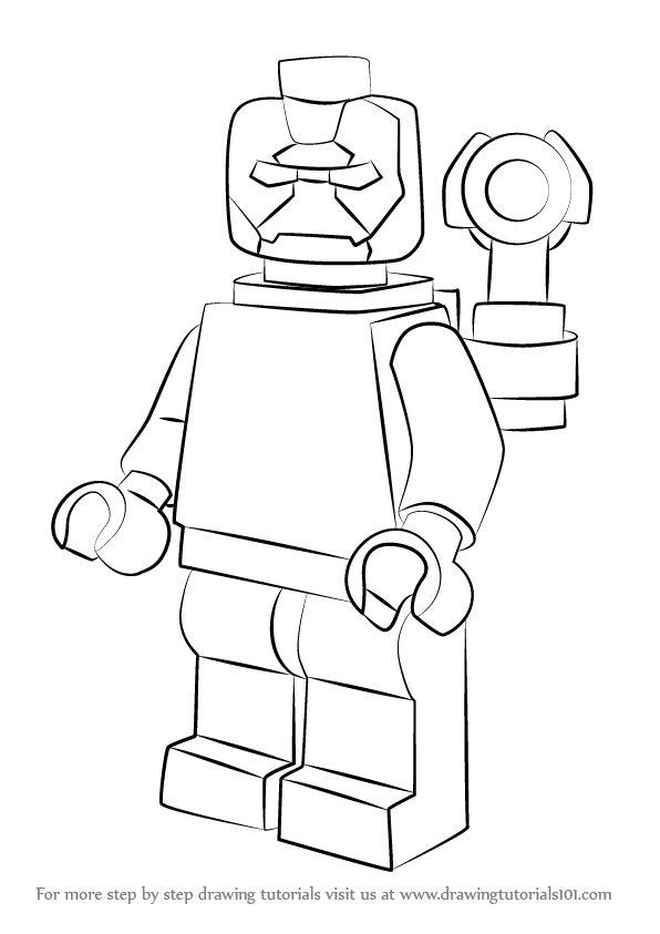 596x843 Learn How To Draw Lego Iron Patriot (Lego) Step By Step Drawing