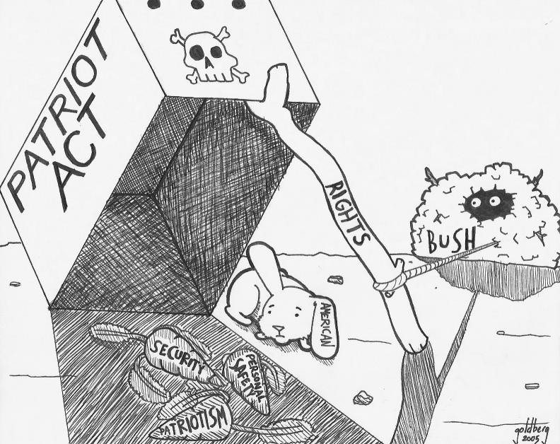 792x628 Patriot Act Editorial Cartoon By Huxtiblejones