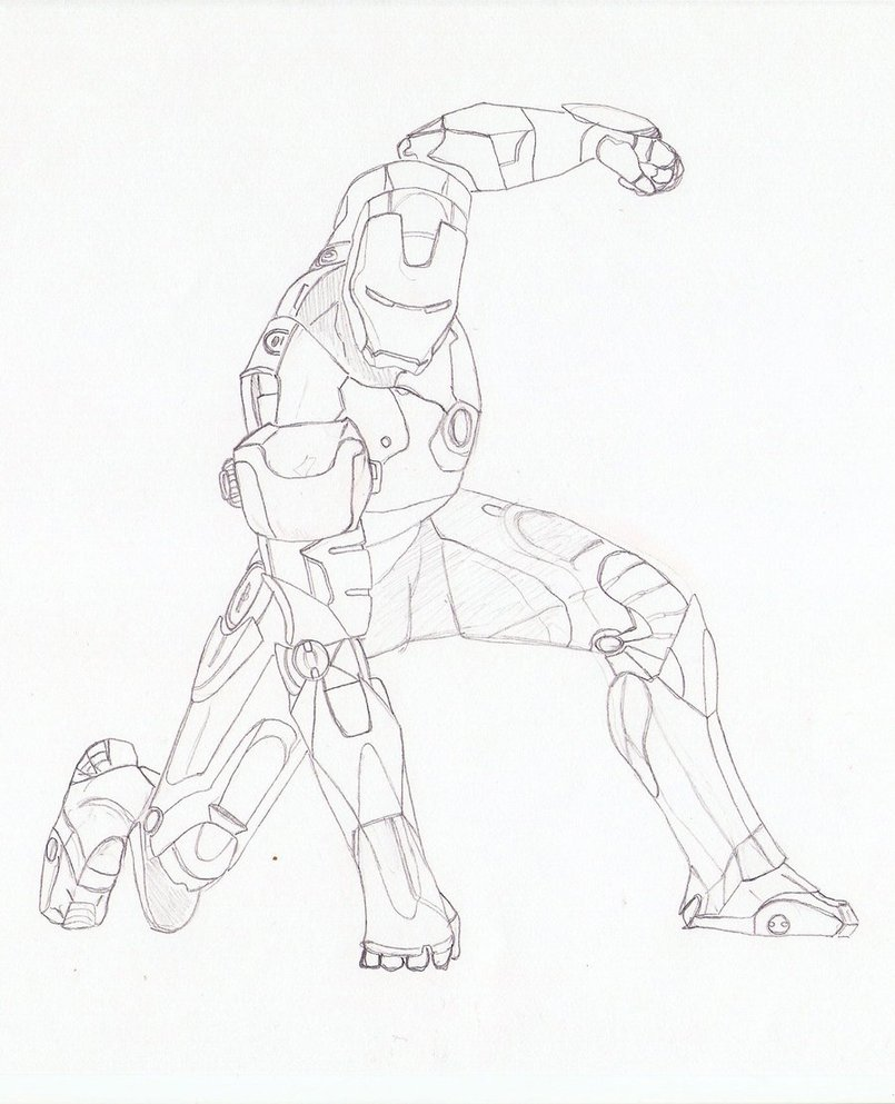 805x993 Easy Iron Patriot Coloring Pictures Iron Man Drawing By Alex