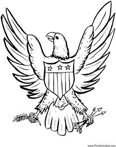 236x298 Eagle Holding Flag Drawing And Coloring Pages Coloring Pages