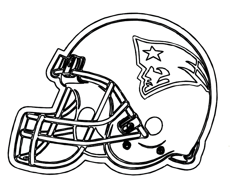 767x612 Football Helmet Patriots New England Coloring Pages Projects