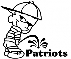 300x248 Pee On Patriots Car Or Truck Window Decal Sticker