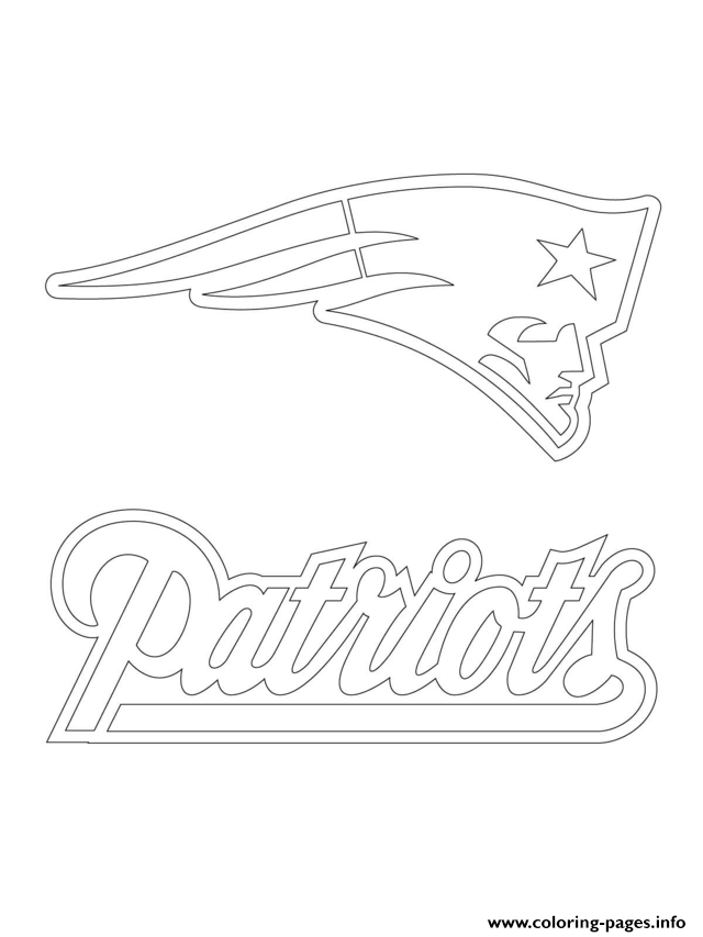 640x853 Print New England Patriots Logo Football Sport Coloring Pages