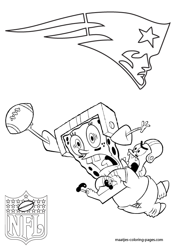 595x842 Coloring Pages New England Patriots