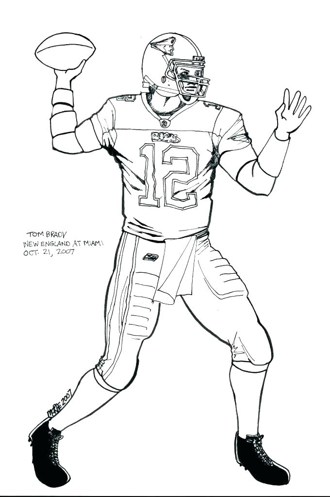 680x1024 Delightful Football Player Coloring Pages Online Patriots Page