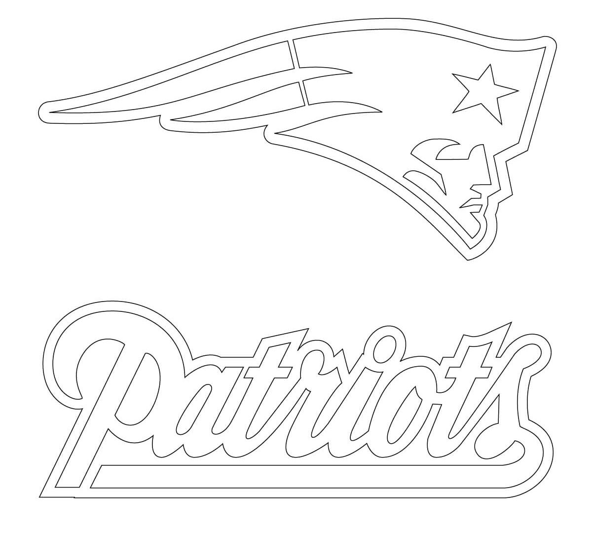 1200x1080 How To Draw The New England Patriots Logo Coloring Pages Patriot