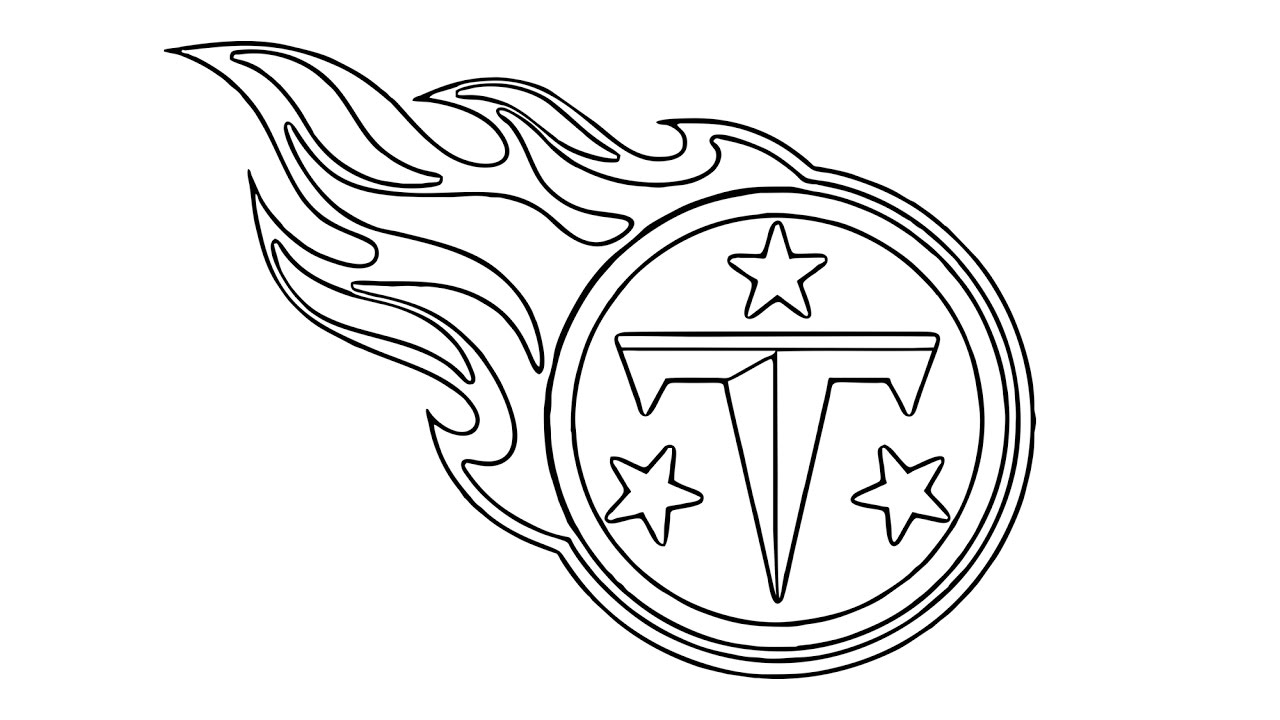 1280x720 How To Draw The Tennessee Titans Logo (Nfl)