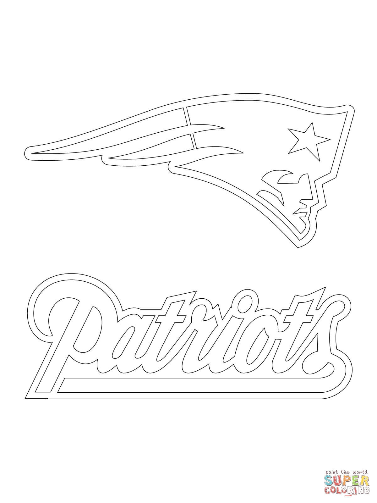 1200x1600 Patriots Logo Coloring Download