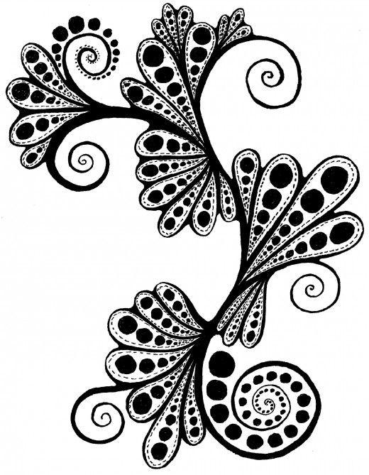 520x669 Cute Patterns Draw Paisley Fairies Designs