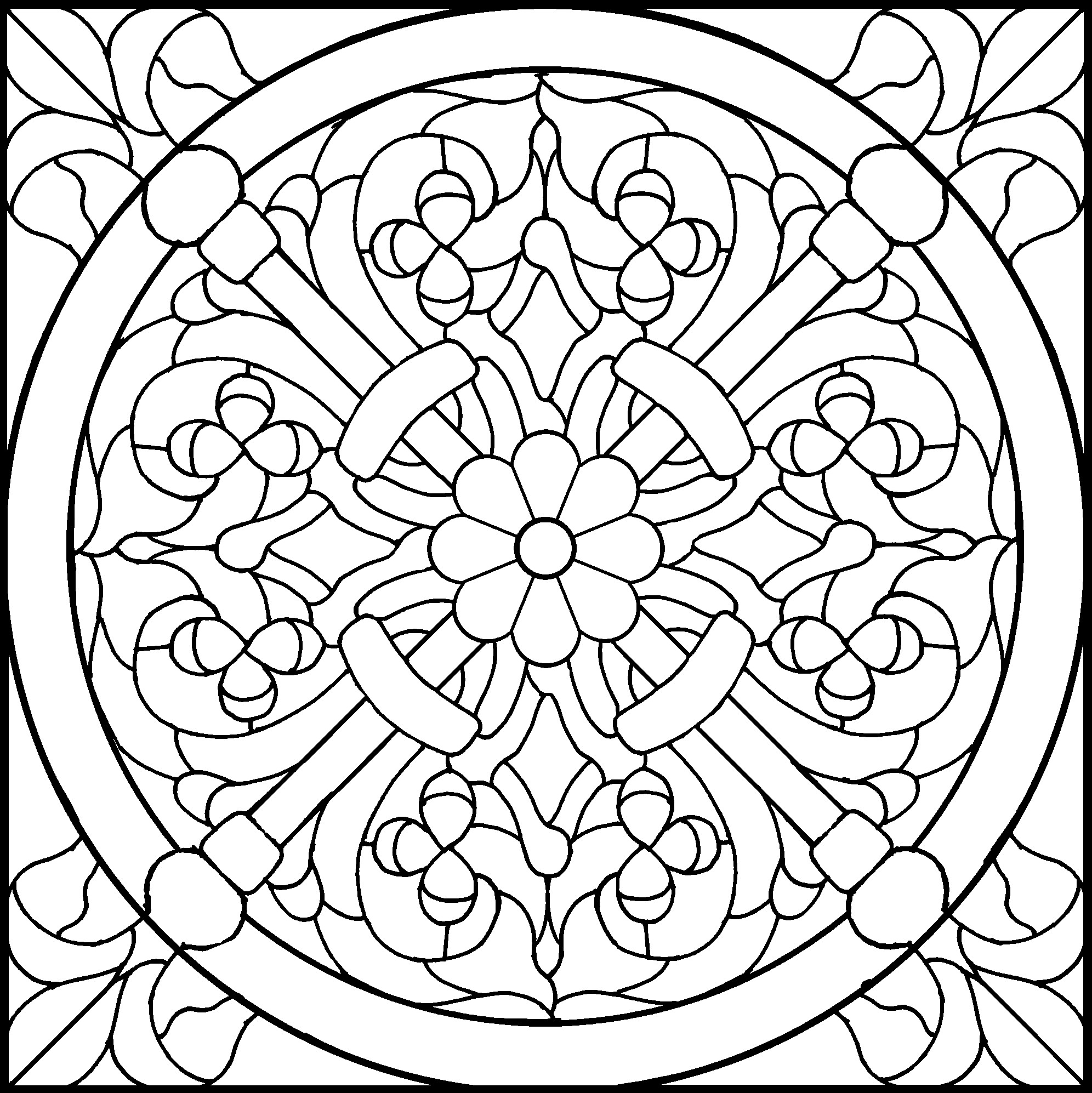 1992x1994 45 Simple Stained Glass Patterns Guide Patterns