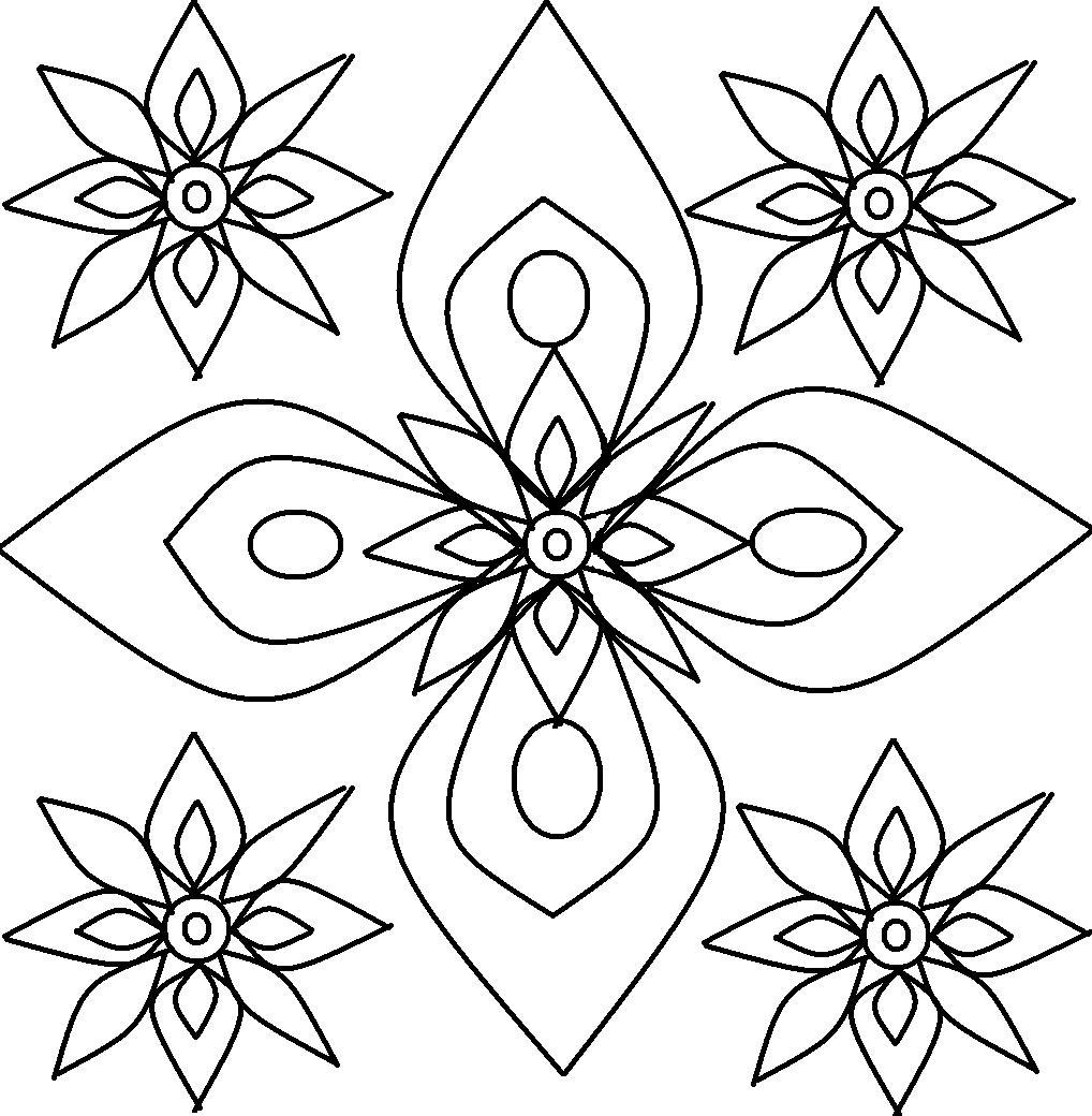1018x1040 Free Printable Rangoli Coloring Pages For Kids