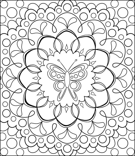 525x605 Printable Coloring Pages For Adults Patterns Printable Coloring