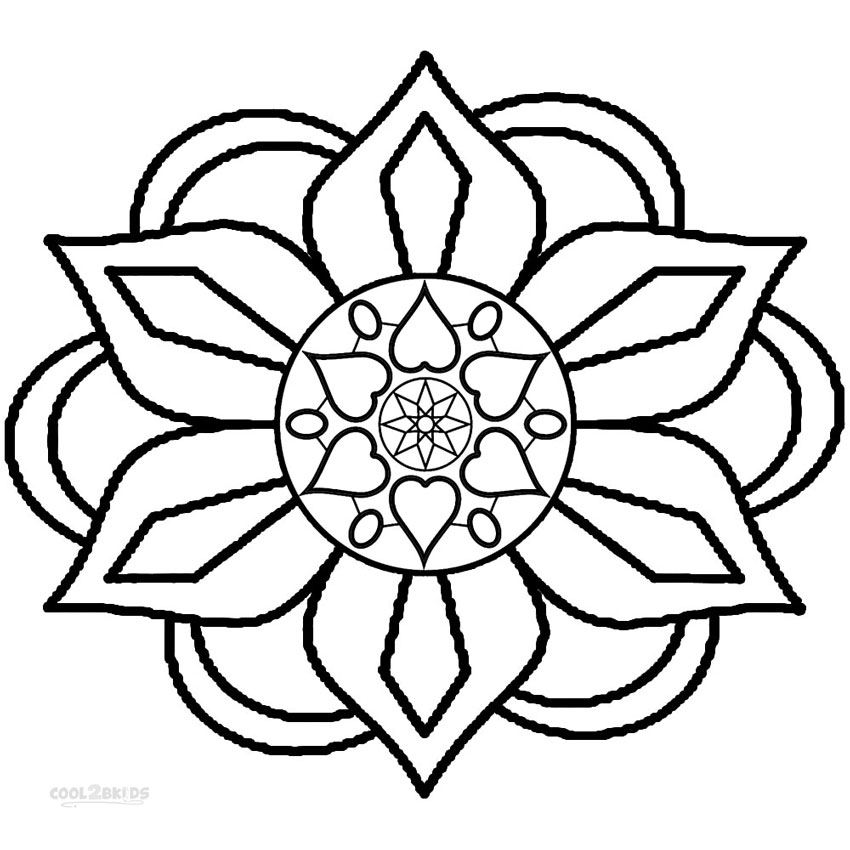 850x850 Printable Rangoli Coloring Pages For Kids Cool2bkids