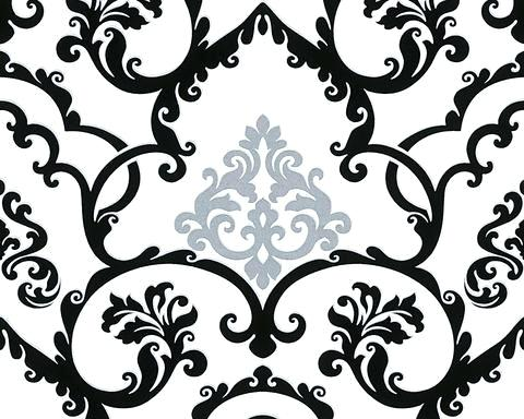 480x384 Black And White Wallpaper Pattern Classical Baroque Wallpaper