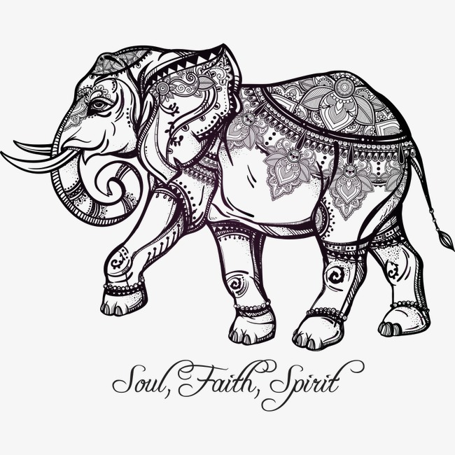 650x650 Elephant Pattern, Elephant, Vector Animals, Vector Elephants Png