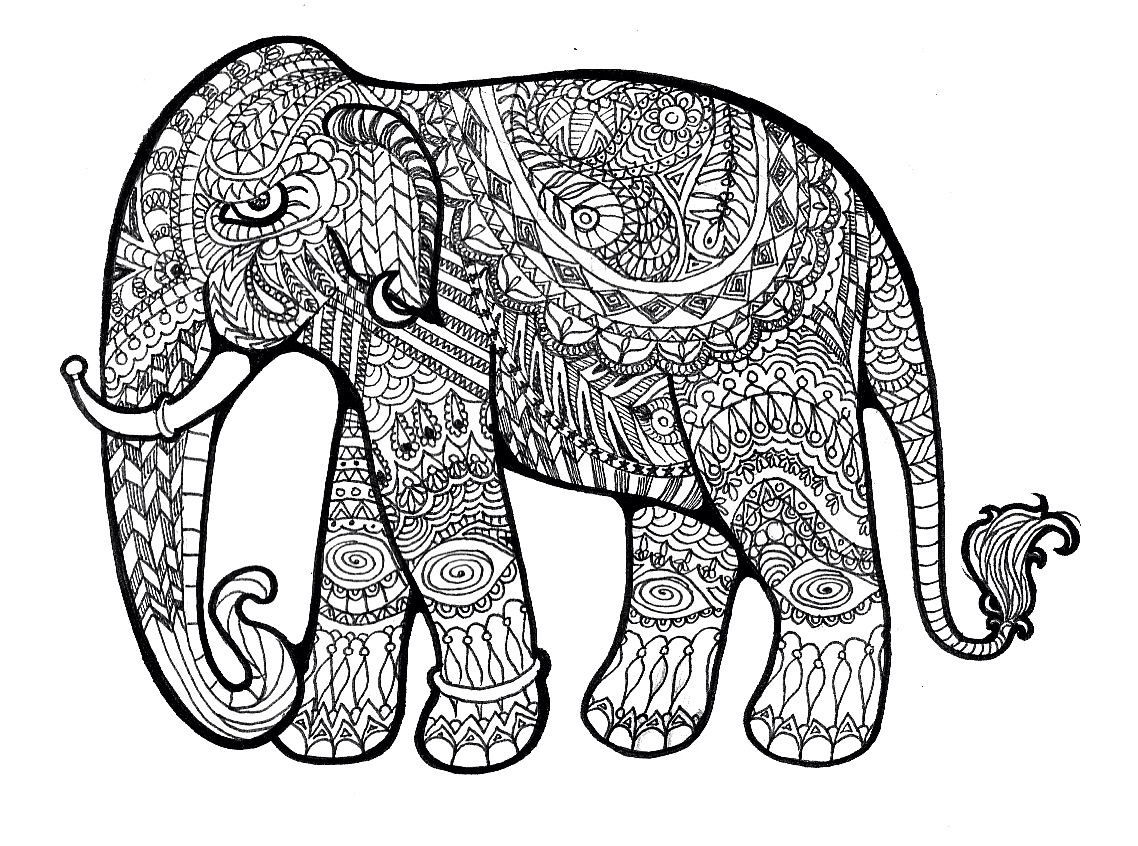 Pattern Elephant Drawing at GetDrawings.com | Free for personal use ...