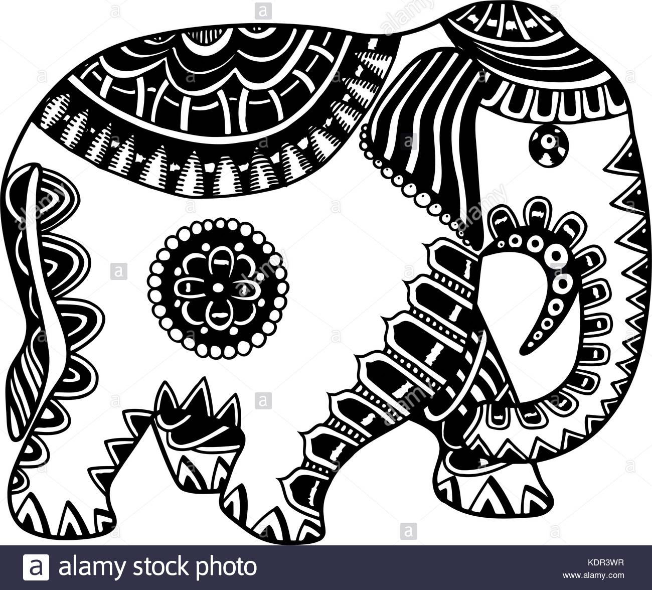 1300x1176 Thailand Elephant Stock Vector Images