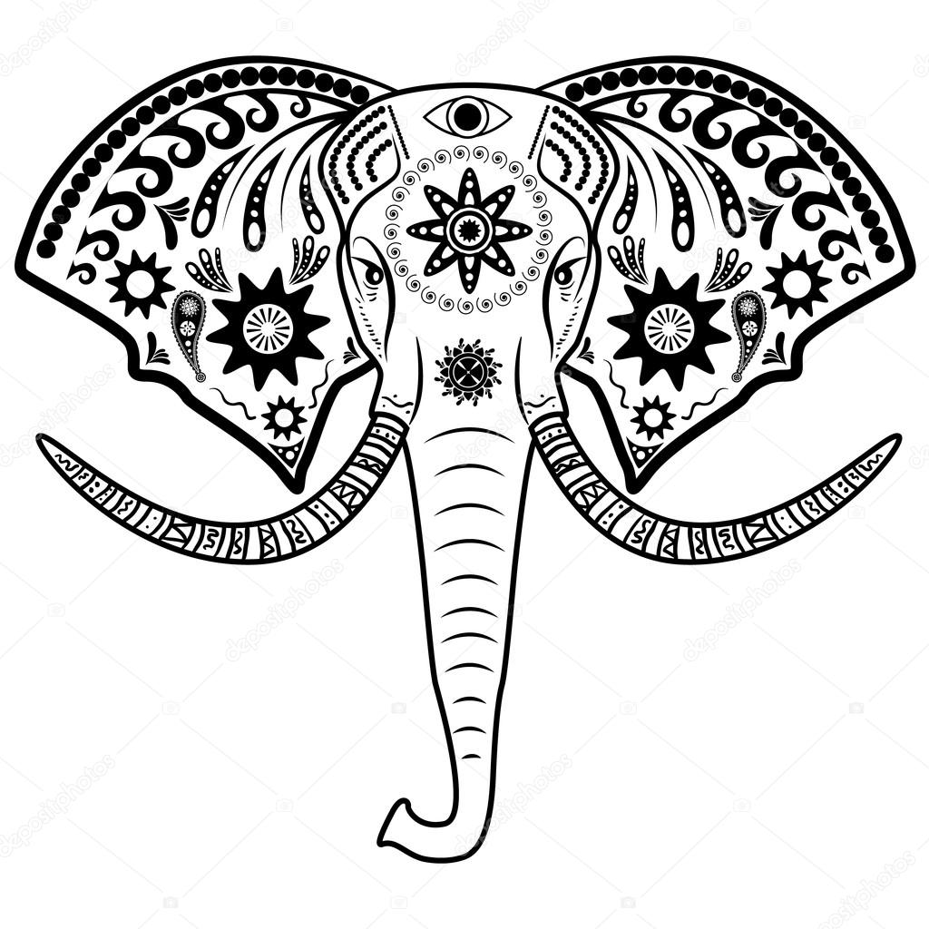 1024x1024 Elephant Head Stock Vector Art L@i.ua