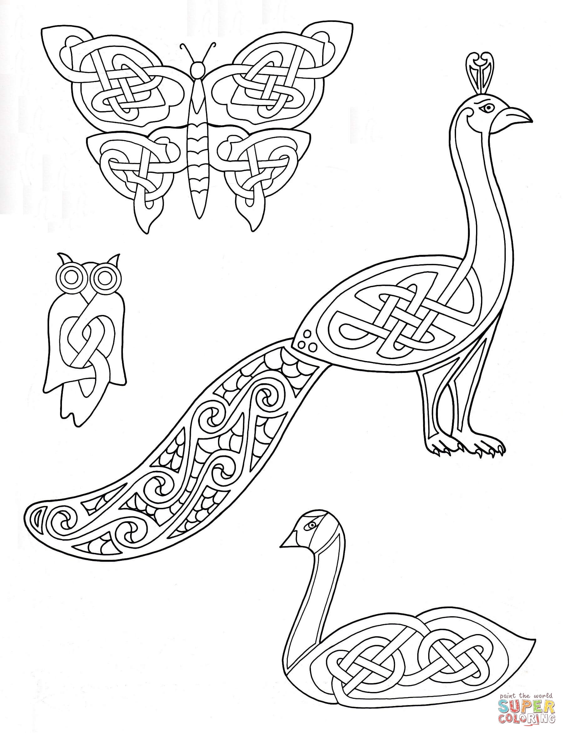 1800x2341 Celtic Animals Designs Coloring Page Free Printable Pages
