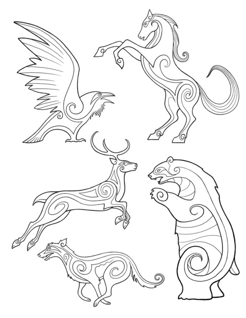 500x647 Bronze Wool Brave, Celticpictish Animal Designs By Michel