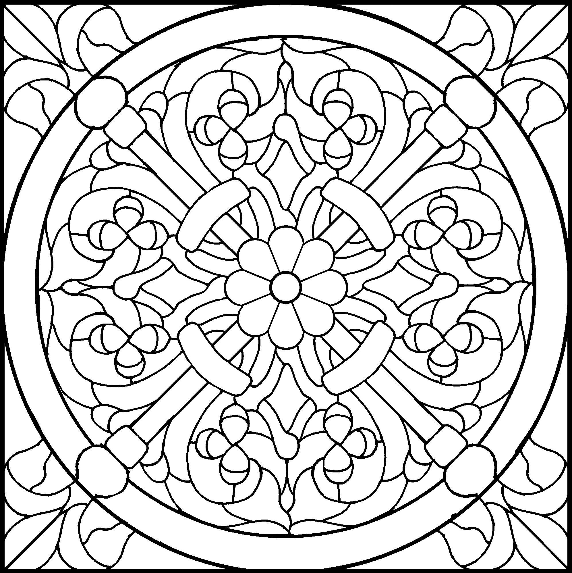 1992x1994 Stained Glass Drawing 45 Simple Stained Glass Patterns Guide