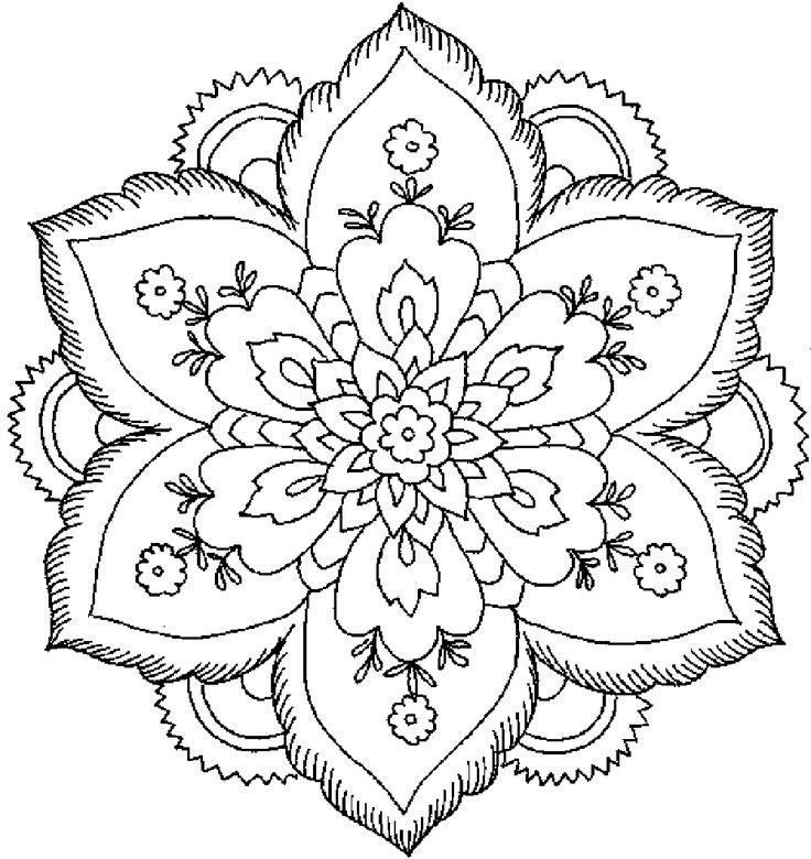 736x780 Flower Patterns For Kids