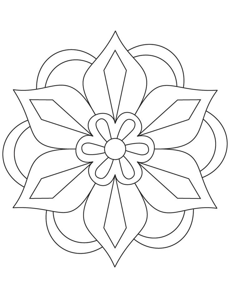 736x951 Magic Flower Patterns For Kids Printable Free Download Clip Art
