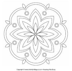 236x233 Printable Design Patterns Rangoli Design Coloring Printable Page
