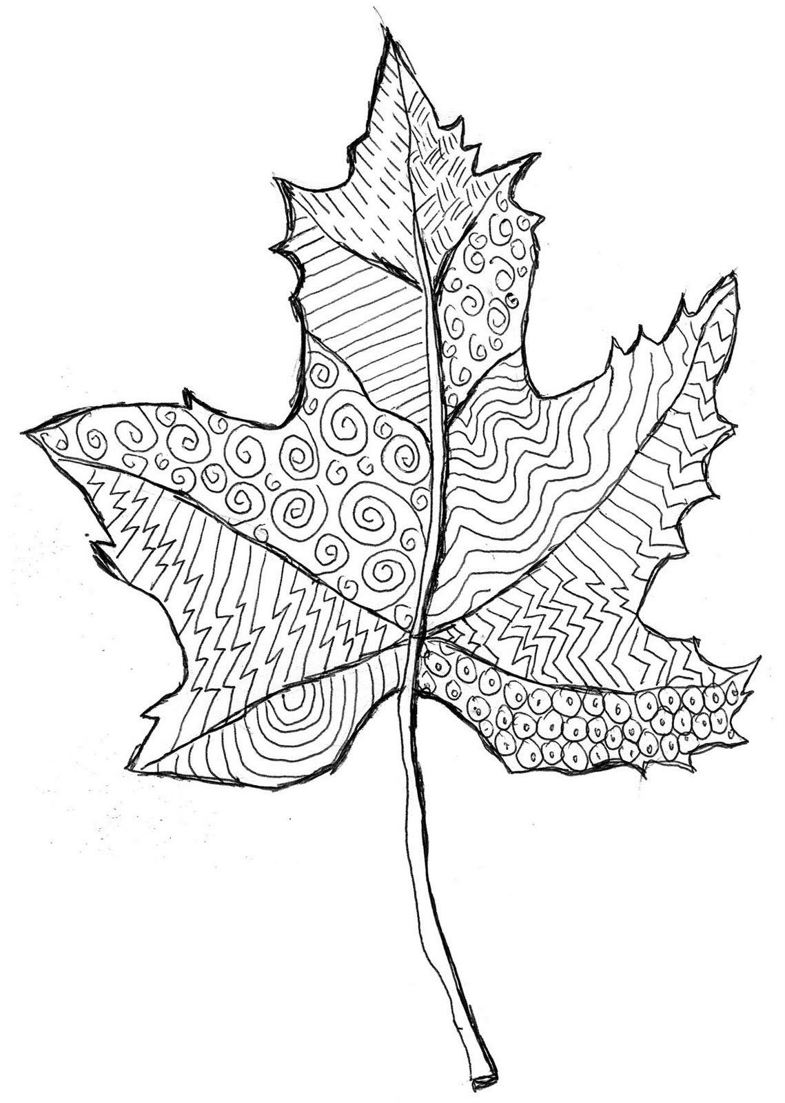 1139x1600 Art Projects For Kids Line Pattern Leaf. Outline Printable