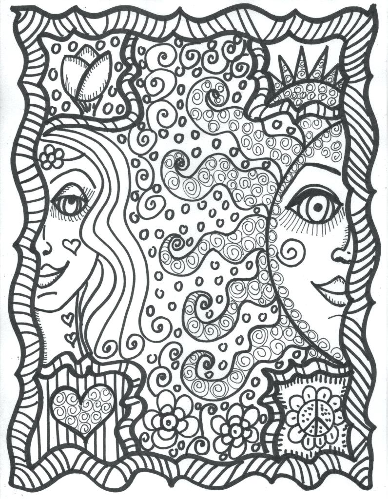796x1024 Fancy Design Cool Adult Coloring Pages Best Gallery Trippy