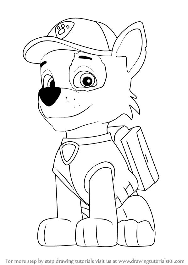 598x844 Learn How To Draw Rocky From Paw Patrol (Paw Patrol) Step By Step