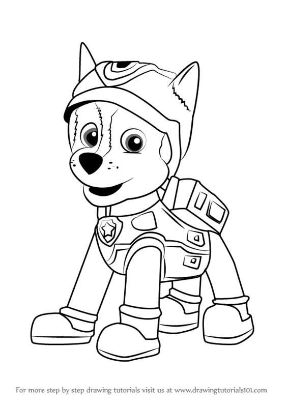 566x800 Learn How To Draw Super Spy Chase From Paw Patrol (Paw Patrol