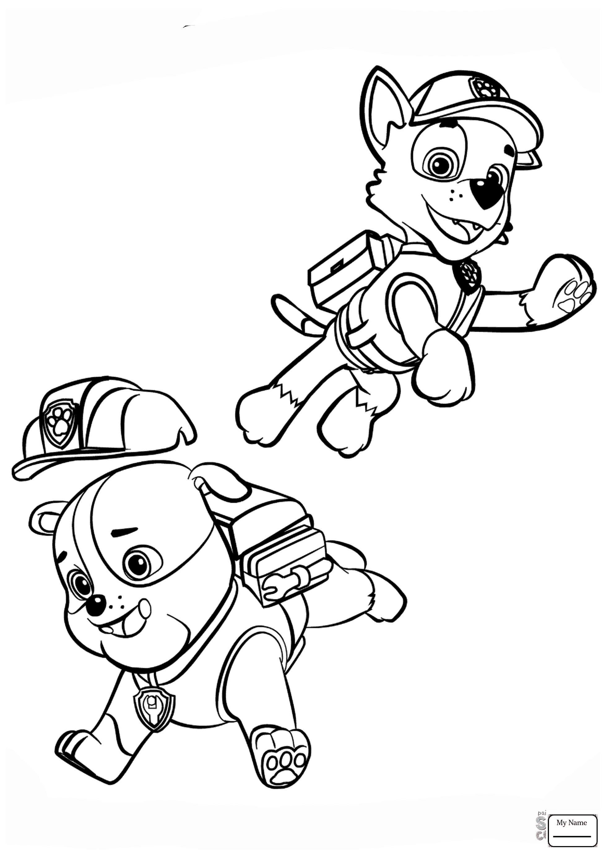Paw Patrol Chase Drawing at GetDrawings.com | Free for ...