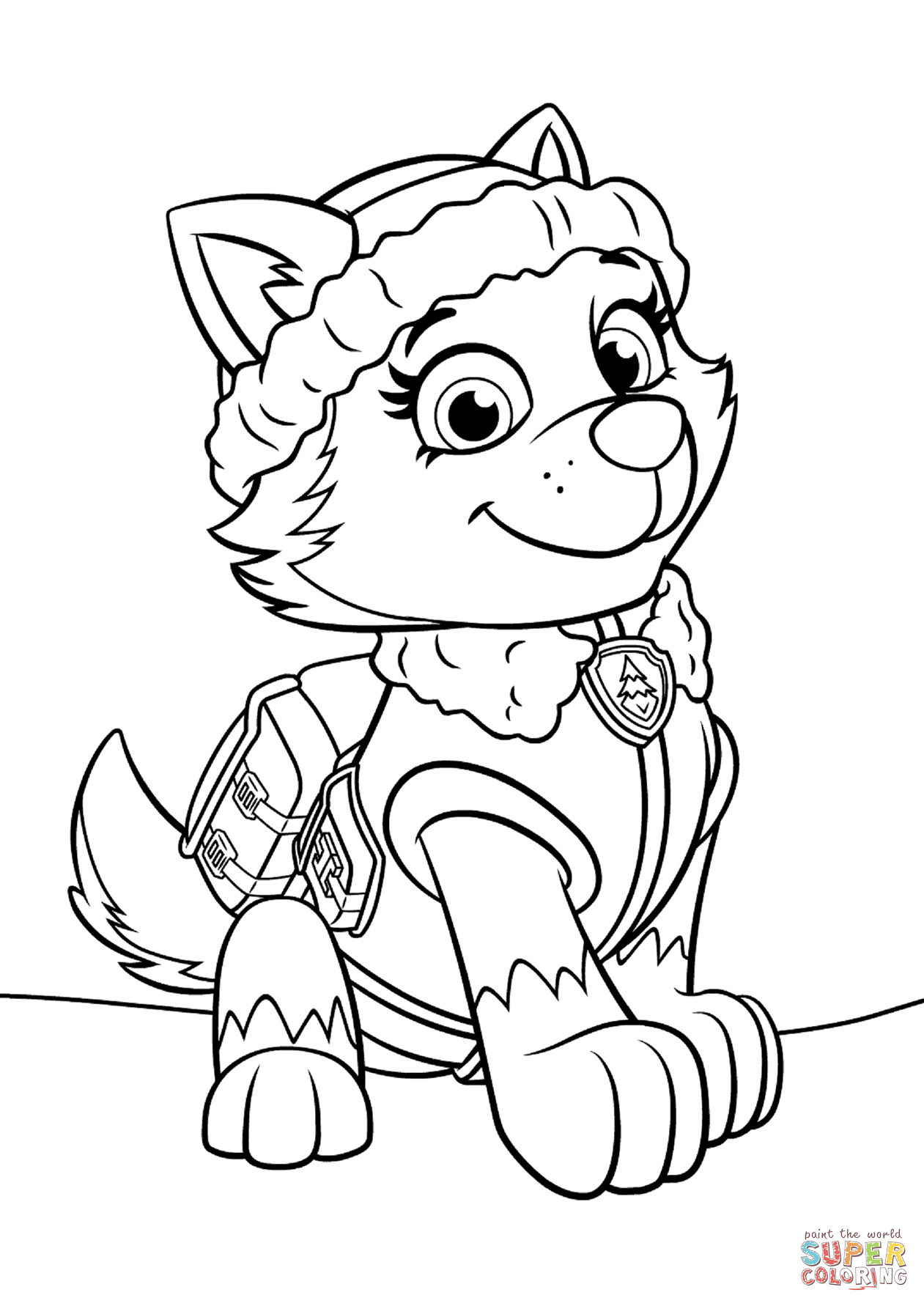 1261x1782 Paw Patrol Everest Coloring Page Free Printable Pages