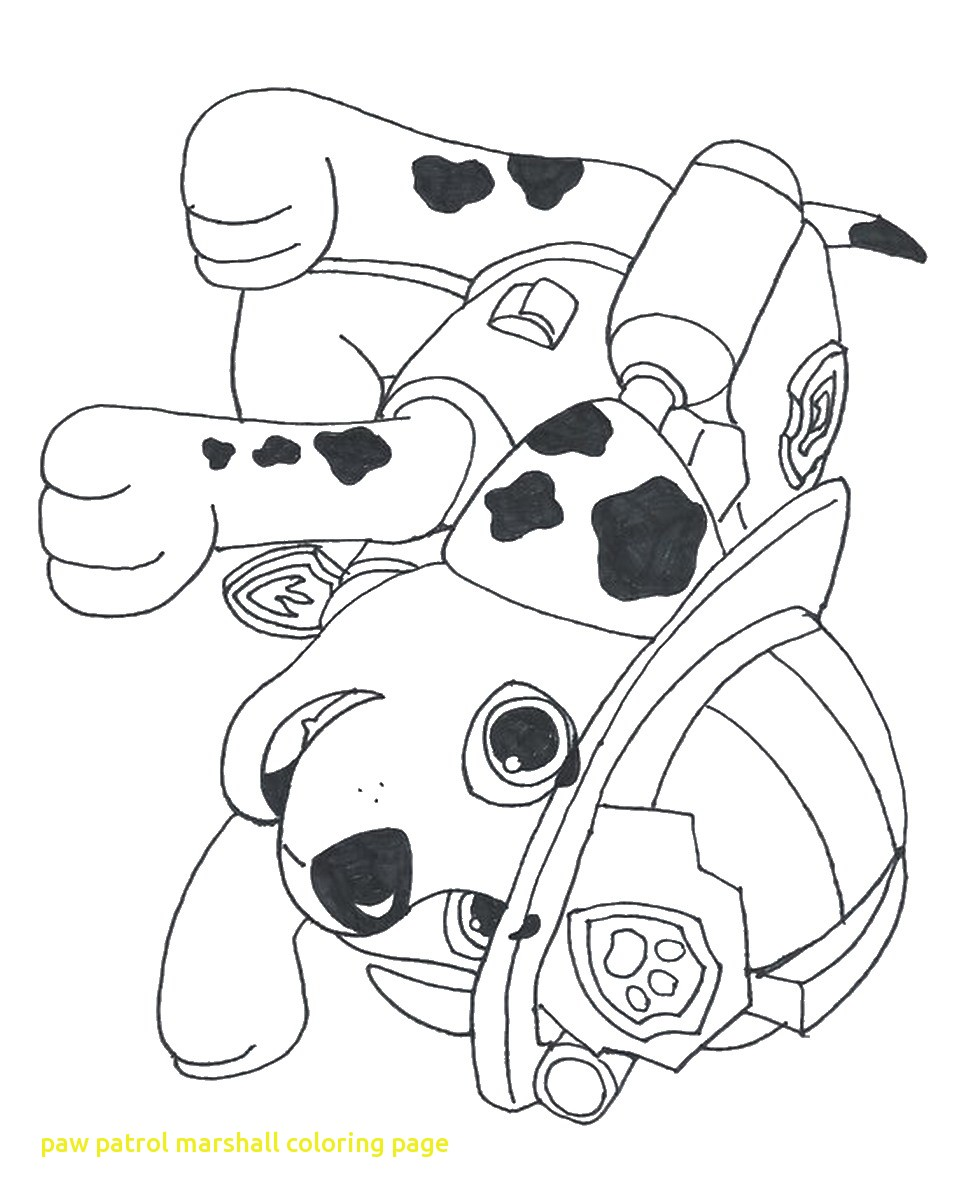 956x1200 Paw Patrol Marshall Coloring Page With Pages