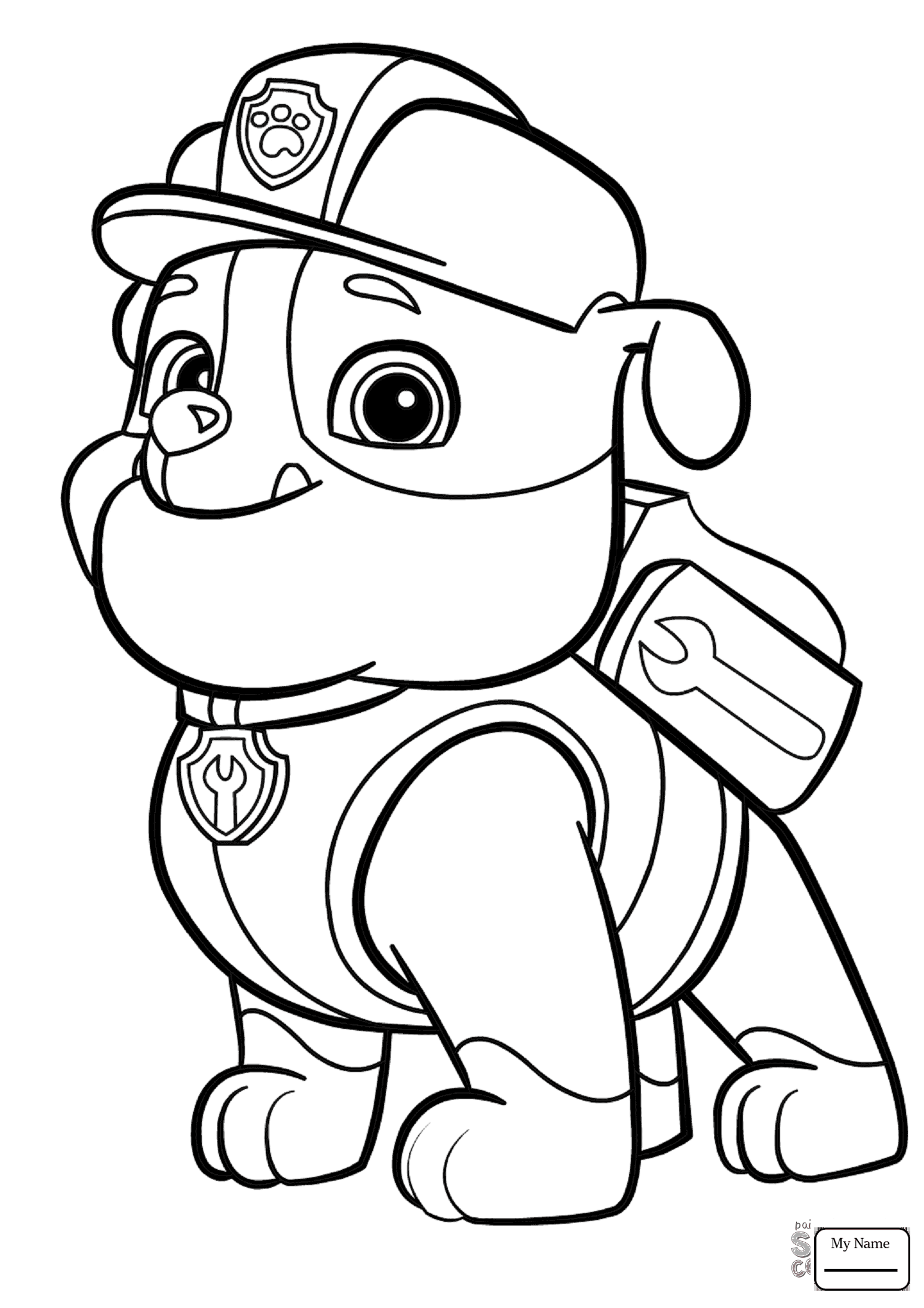 1547x2190 Coloring Pages For Kids Cartoons Paw Patrol Marshall Puppy
