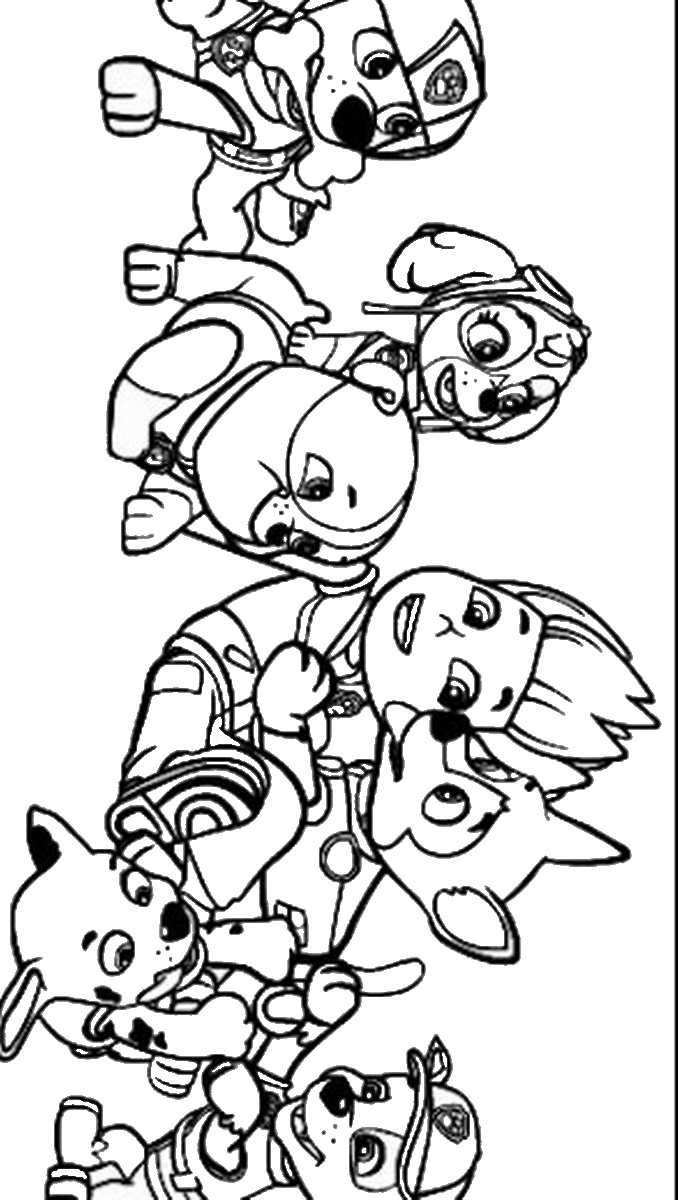 678x1200 Free Coloring Pages Of Paw Patrol Marshall