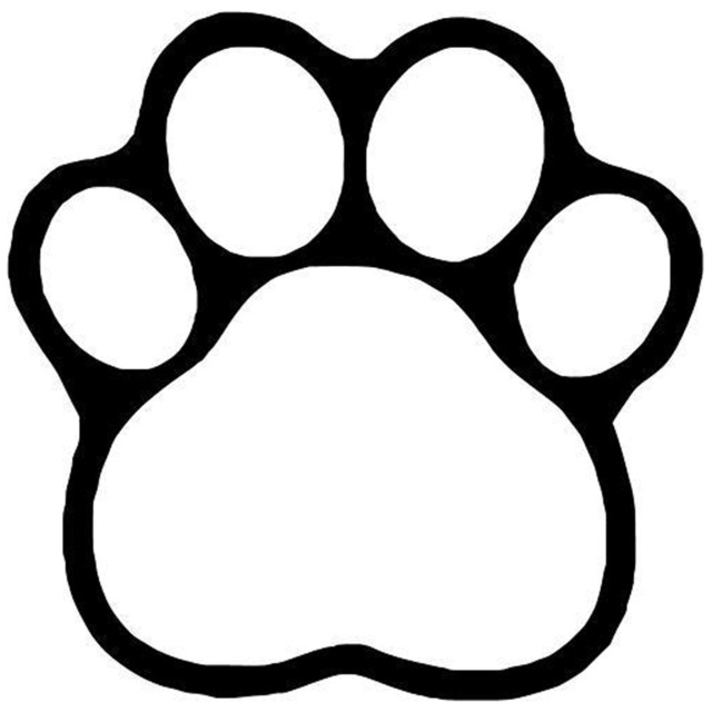 paw print drawing at getdrawings com free for personal use paw rh getdrawings com paw prints clipart paw print clip art images