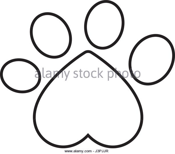 Paw Print Drawing at GetDrawings com | Free for personal use