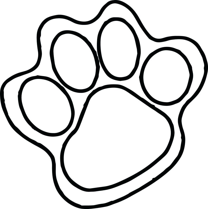 878x882 Paw Print Coloring Pages Download Pig With